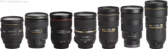 Sony FE 24-70mm f/2.8 GM Lens Compared to Similar Lenses