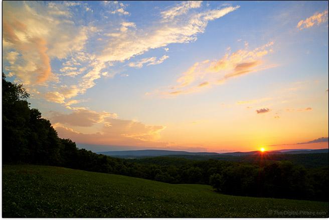 Sony FE 24-70mm f/4 ZA OSS Lens Country Sunset Sample Picture