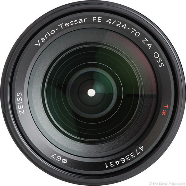 Sony FE 24-70mm f/4 ZA OSS Lens Front View