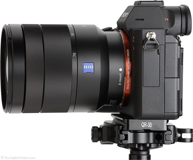 Sony FE 24-70mm f/4 ZA OSS Lens Side View