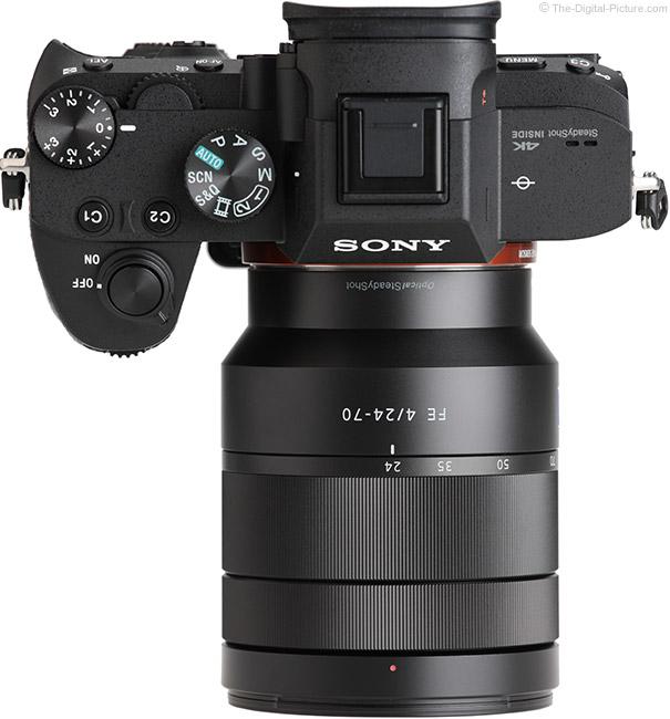 Sony FE 24-70mm f/4 ZA OSS Lens Top View