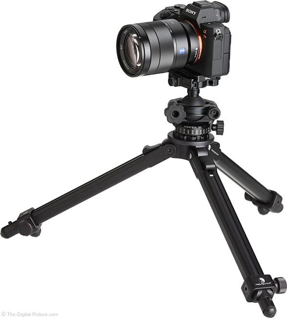 Sony FE 24-70mm f/4 ZA OSS Lens on Tripod