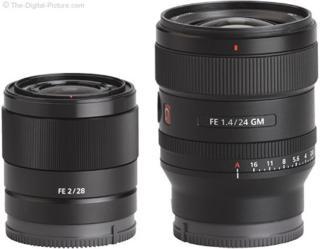 Sony FE 24mm f/1.4 GM Lens Compared to Sony FE 28mm f/2 Lens
