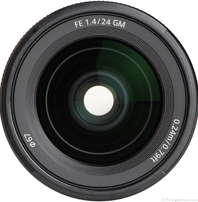 Sony FE 24mm f/1.4 GM Lens Front View