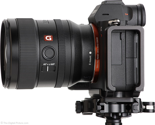 Sony FE 24mm f/1.4 GM Lens Side View