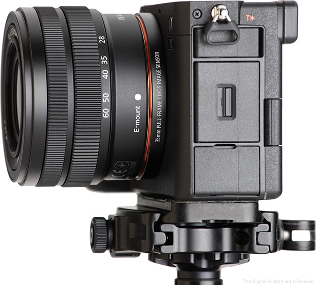 Sony FE 28-60mm f/4-5.6 Lens Side View