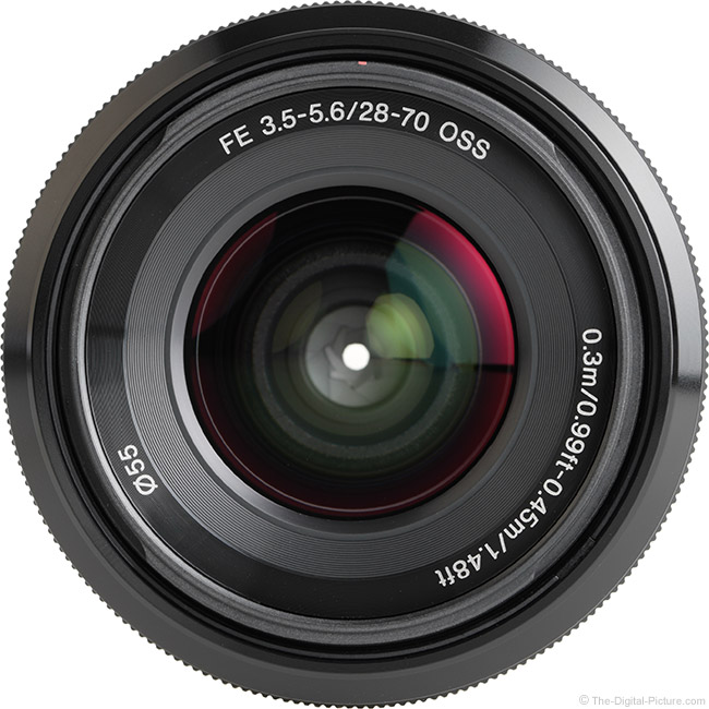 Sony FE 28-70mm f/3.5-5.6 OSS Lens Front View