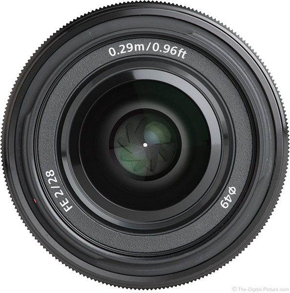 Sony FE 28mm f/2 Lens Front View