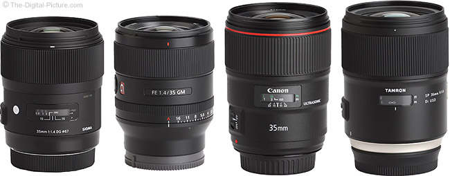 Sony FE 35mm f/1.4 GM Lens Compared to Similar Lenses