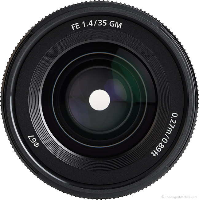 Sony FE 35mm f/1.4 GM Lens Front View