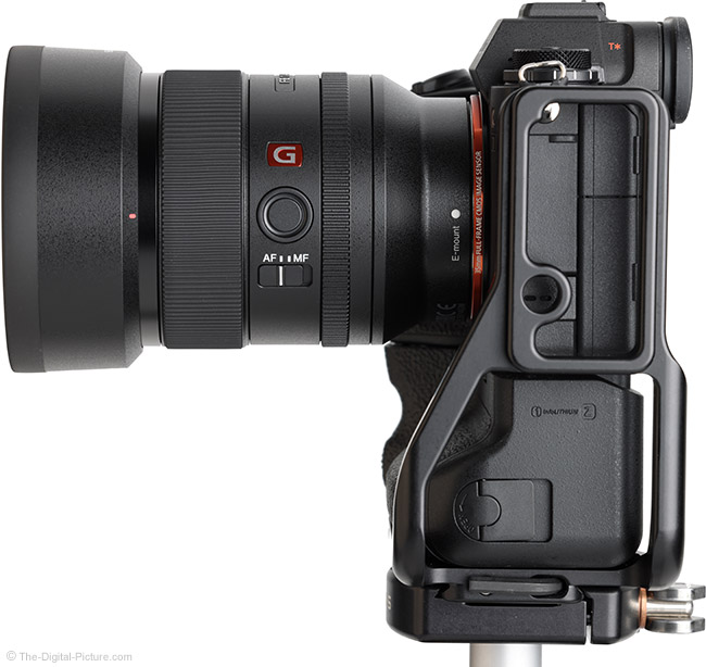 Sony FE 35mm f/1.4 GM Lens Side View with Hood