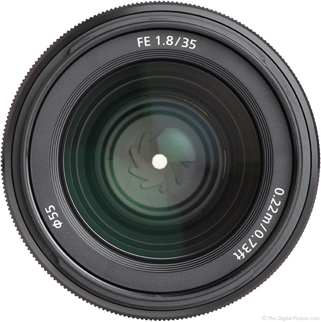 Sony FE 35mm f/1.8 Lens Front View