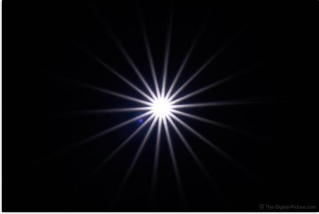 Sony FE 35mm f/1.8 Lens Sunstar Effect Example
