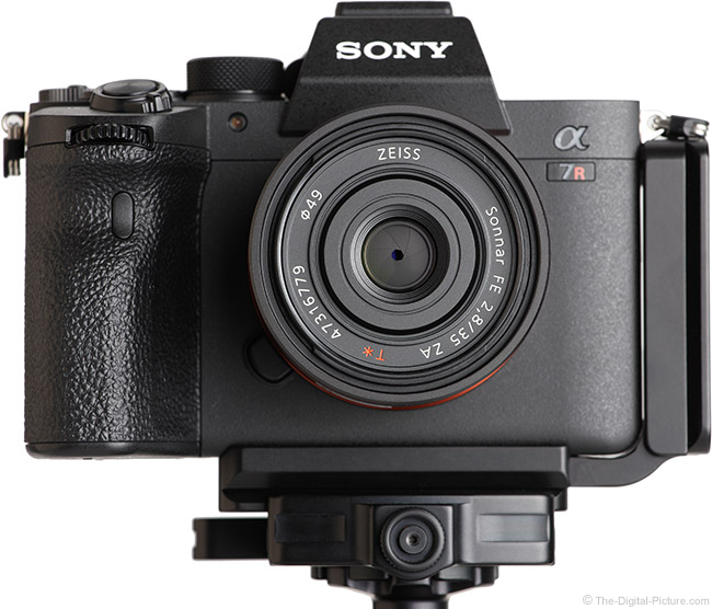 Sony FE 35mm f/2.8 ZA Lens Front View on Camera