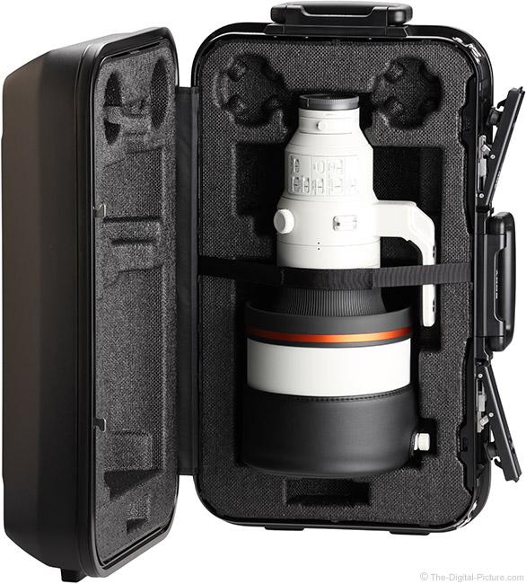 Sony FE 400mm f/2.8 GM OSS Lens Case Open