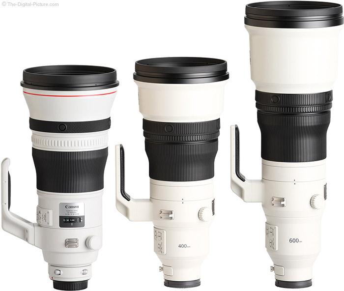 Sony FE 400mm f/2.8 GM OSS Lens Compared to Similar Lenses