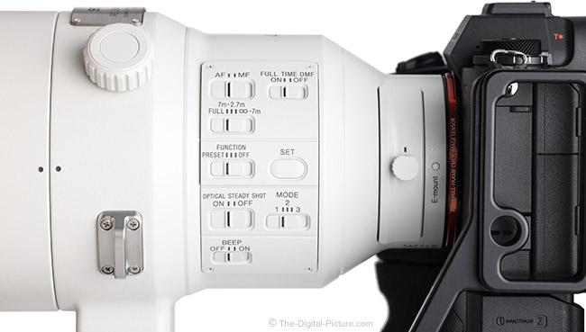 Sony FE 400mm f/2.8 GM OSS Lens Switches
