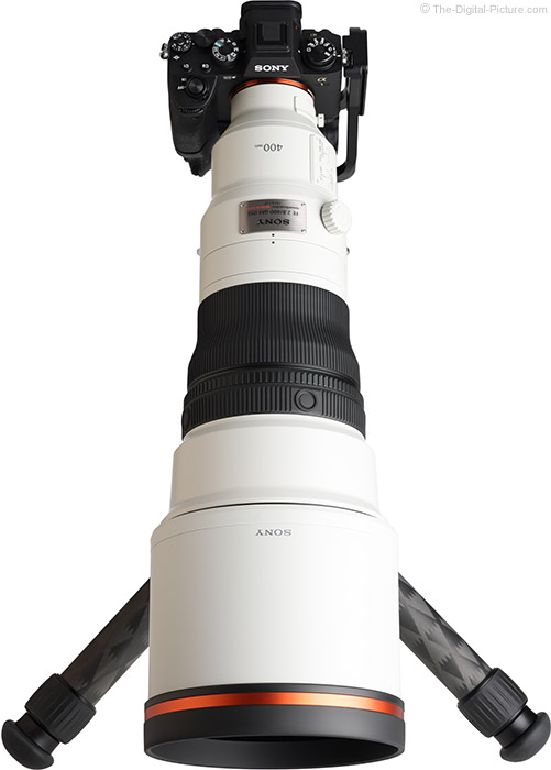 Sony FE 400mm f/2.8 GM OSS Lens Extended Top Angle View
