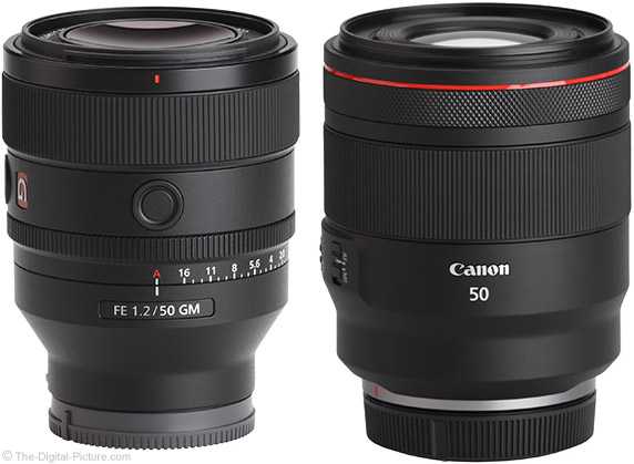 Sony FE 50mm f/1.2 GM Lens Compared to Canon RF F1.2 L USM Lens