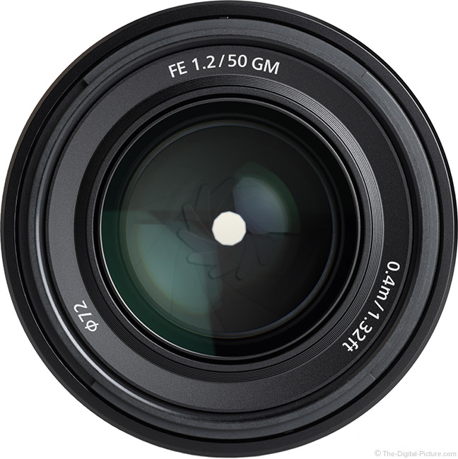 Sony FE 50mm f/1.2 GM Lens Front View
