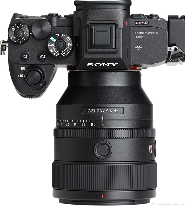 Sony FE 50mm f/1.2 GM Lens Top View