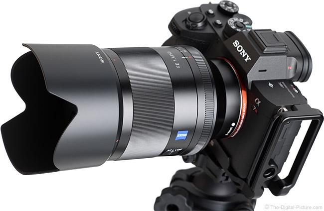 Sony FE 50mm f/1.4 ZA Lens Angle View with Hood