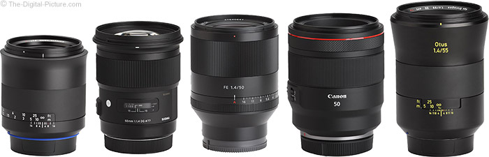 Sony FE 50mm f/1.4 ZA Lens Compared to Similar Lenses