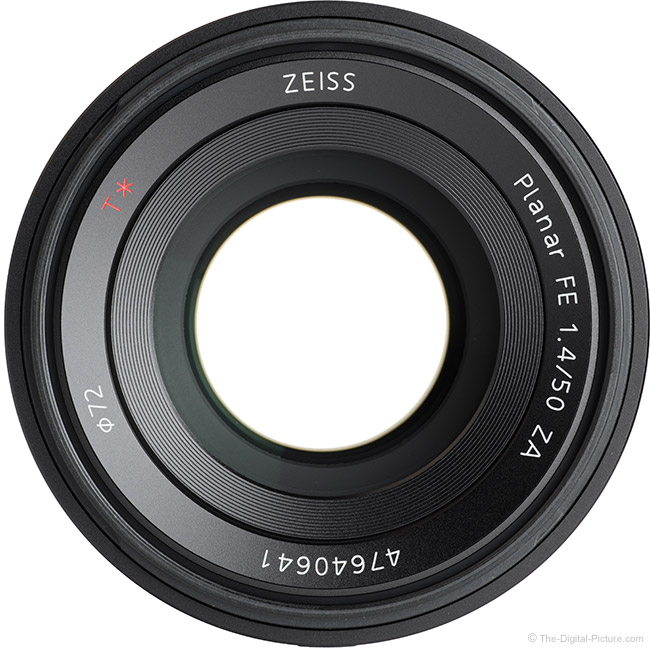 Sony FE 50mm f/1.4 ZA Lens Front View