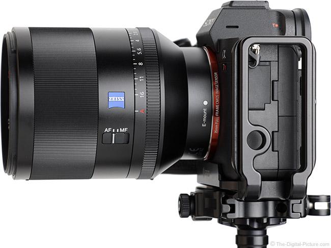 Sony FE 50mm f/1.4 ZA Lens Side View