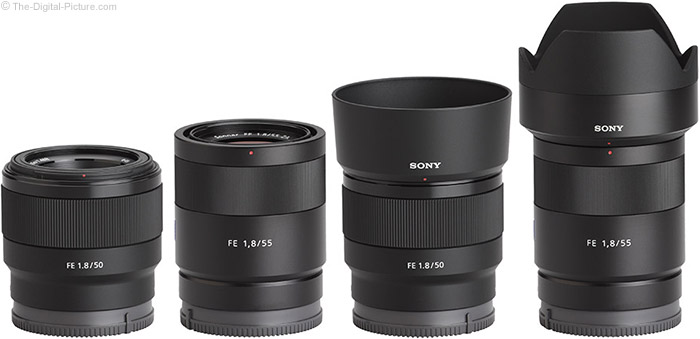 Sony FE 50mm vs. 55mm f/1.8 ZA Lens