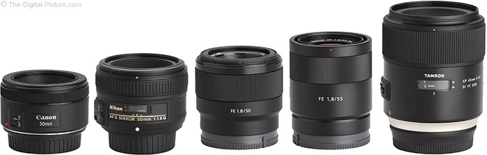 Sony FE 50mm f/1.8 Lens Compared to Similar Lenses