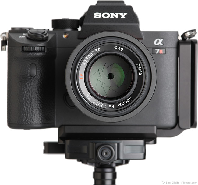 Sony FE 55mm f/1.8 ZA Lens Front View on Camera