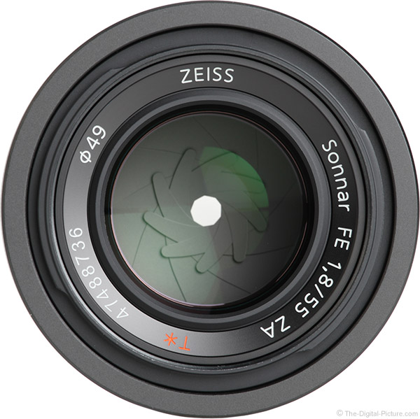 Sony FE 55mm f/1.8 ZA Lens Front View