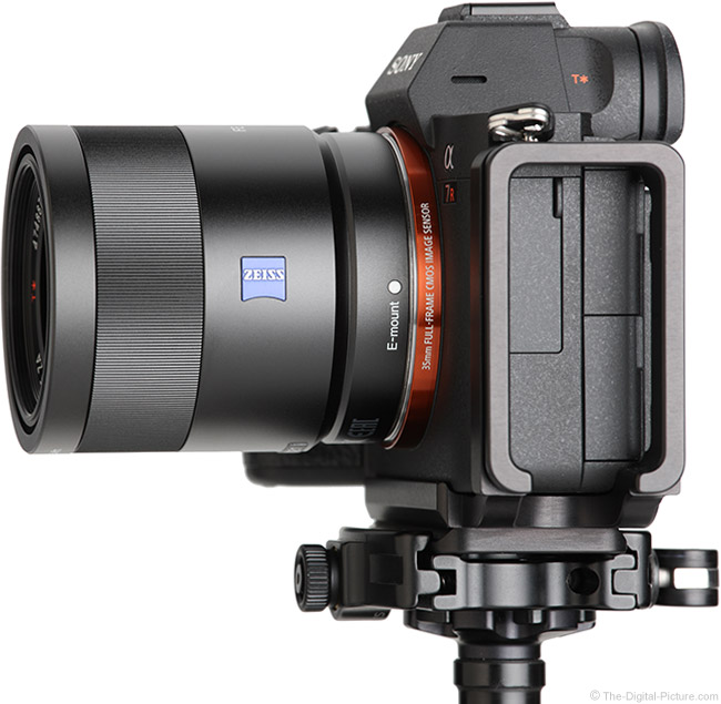 Sony FE 55mm f/1.8 ZA Lens Side View