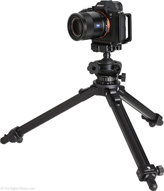 Sony FE 55mm f/1.8 ZA Lens on Tripod