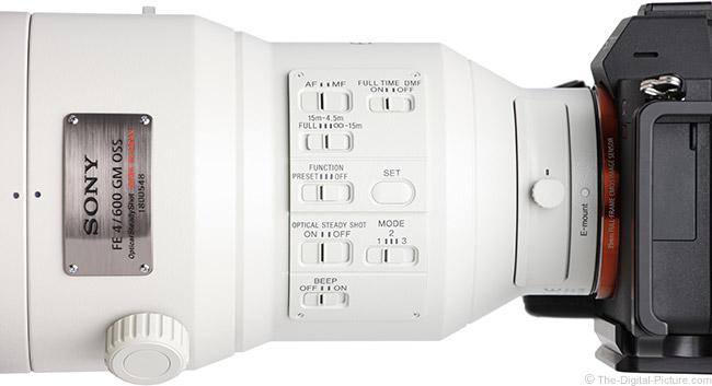 Sony FE 600mm f/4 GM OSS Lens Switches