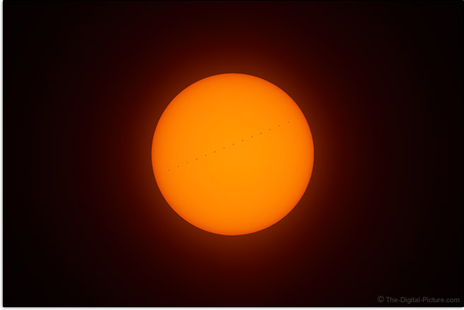 Sony a7R IV Mercury Transit Sample Picture