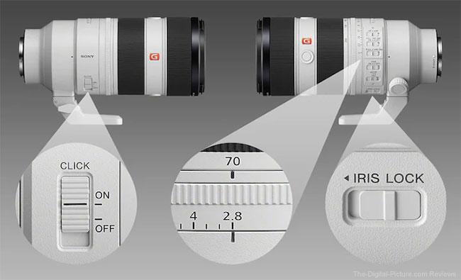 Sony FE 70-200mm F2.8 GM OSS II Lens Aperture Ring