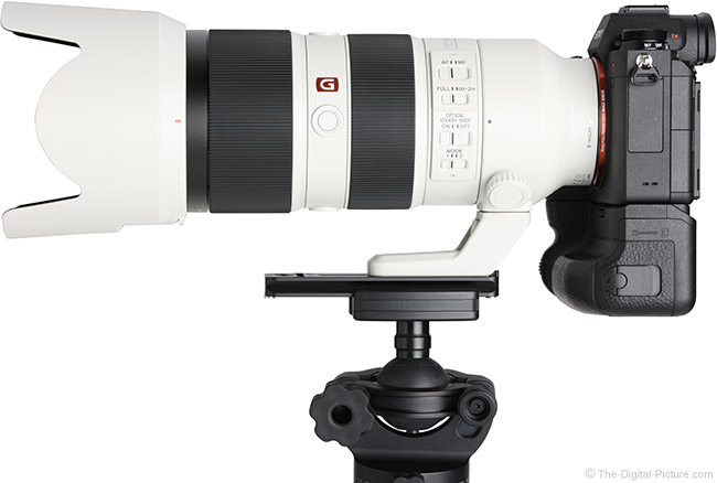 Sony FE 70-200mm f/2.8 GM OSS Lens Side View with Hood
