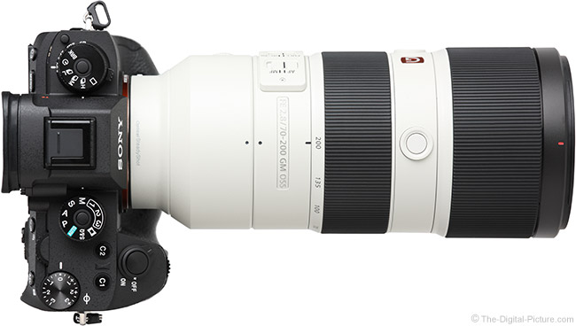 Sony FE 70-200mm f/2.8 GM OSS Lens Top View