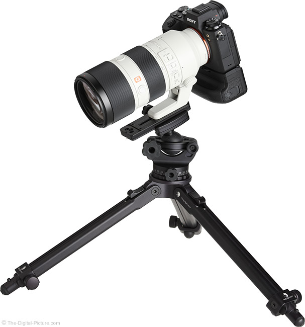 Sony FE 70-200mm f/2.8 GM OSS Lens on Tripod