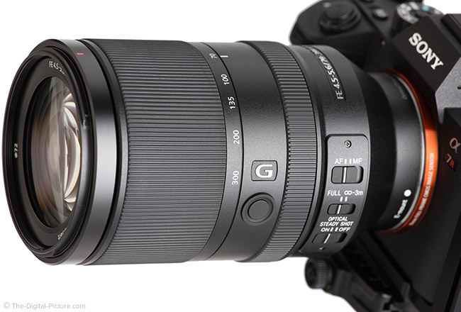 Sony FE 70-300mm f/4.5-5.6 G OSS Lens Angle View