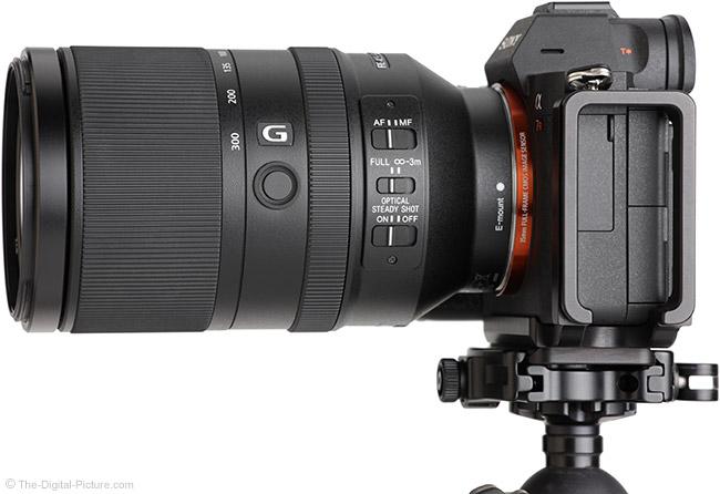 Sony FE 70-300mm f/4.5-5.6 G OSS Lens Side View