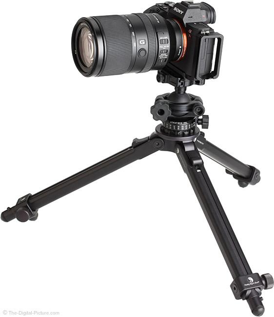 Sony FE 70-300mm f/4.5-5.6 G OSS Lens on Tripod
