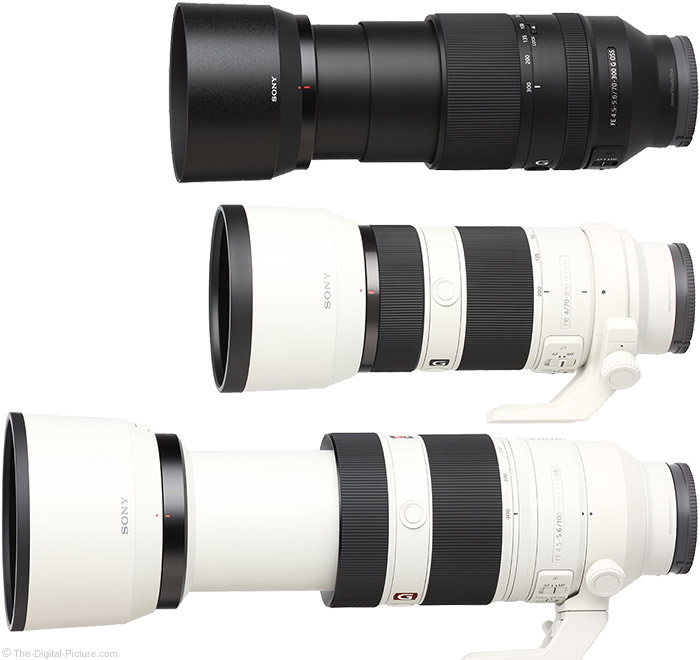 Sony FE 70-300mm f/4.5-5.6 G OSS Lens Compared to Similar Lenses with Hoods