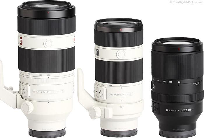 Sony FE 70-300mm f/4.5-5.6 G OSS Lens Compared to Similar Lenses