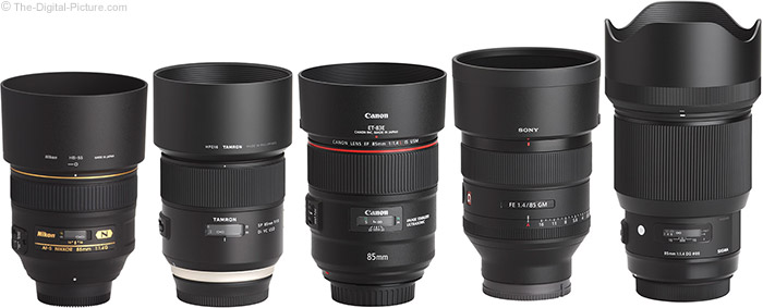 Sony FE 85mm f/1.4 GM Lens Compared to Similar Lenses with Hoods