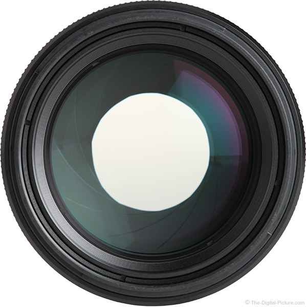 Sony FE 85mm f/1.4 GM Lens Front View