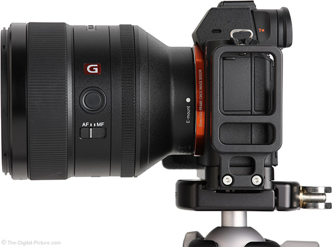 Sony FE 85mm f/1.4 GM Lens Side View