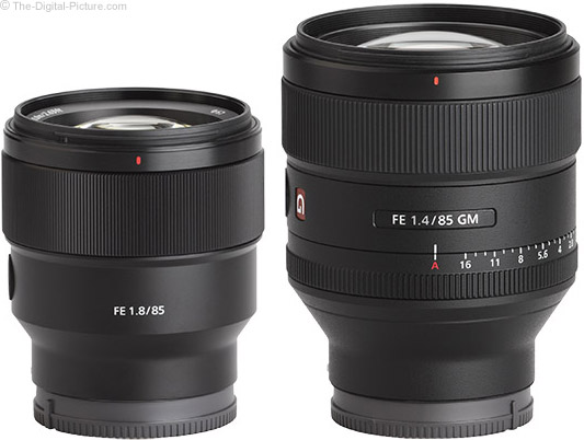 Sony FE 85mm f/1.8 Lens Compared to Sony FE 85mm f/1.4 GM Lens